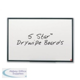 5 Star Office Drywipe Non-Magnetic Board with Fixing Kit and Detachable Pen Tray W900xH600mm