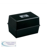 5 Star Office Card Index Box Capacity 250 Cards 6x4in 152x102mm Black