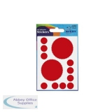 Avery Packets of Labels Company Seal Diam 51mm Red Ref 32-400 [10 x 8 Labels]