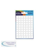 Avery Packets of Labels Round Diam.8mm White Ref 32-001 [10x630 Labels]