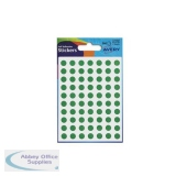 Avery Packets of Labels Diam.8mm Green Ref 32-302 [10x560 Labels]
