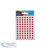 Avery Packets of Labels Diam.8mm Red Ref 32-301 [10x560 Labels]