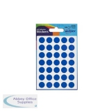 Avery Packets of Labels Diam.13mm Blue Ref 32-308 [10x245 Labels]