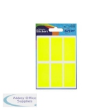 Avery Packets of Labels 25x50mm Fluorescent Yellow Ref 32-223 [10x36 Labels]