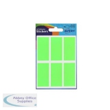 Avery Packets of Labels 25x50mm Fluorescent Green Ref 32-221 [10x36 Labels]