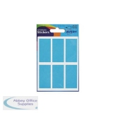Avery Packets of Labels 25x50mm Blue Ref 32-224 [10x36 Labels]