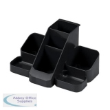 Avery Basics Desk Tidy 7 Compartments W164xD116xH85mm Black Ref 1137BLK