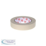 5 Star Office Masking Tape Crepe Paper 25mm x 50m [Pack 6]