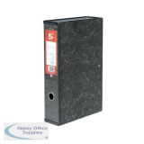 5 Star Office Box File Lock Spring with Ring Pull and Catch 75mm Spine Foolscap Marbled