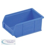 Barton TC2 Small Parts Container Semi-Open Front Blue 1.27 Litre 165x100x75mm Pack of 20 010021