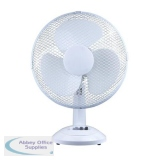 5 Star Facilities Desk Fan Oscillating Tilt and Lock 48.5Db 3 Speed H480mm Dia.305mm
