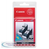 Canon Inkjet Cartridge Twin Pack Black 2932B009 PGI520BK