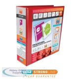Elba Panorama Presentation Ring Binder PVC 4 D-Ring 65mm Capacity A4 Red Ref 400008674 [Pack 4]