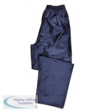 SP-374792 - Portwest Atlantic Rain Trousers Side-pockets Polyester Navy Medium Ref S441NAVYMED