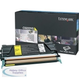 Lexmark C522N/C524 Return Programme Toner Cartridge Yellow C5220YS
