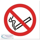 Stewart Superior No Smoking in Vehicle Sign 100x100mm Self-adhesive Clear Vinyl Ref SB012SAV