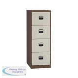 Trexus Filing Cabinet Steel Lockable 4 Drawer W470xD622xH1321mm Coffee/Cream