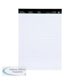 5 Star Office Executive Pad Headbd 60gsm Ruled with Blue Margin Perforated 100pp A4 White Paper [Pack 10]