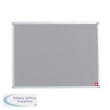 5 Star Office Felt Noticeboard with Fixings and Aluminium Trim W900xH600mm Grey