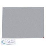 5 Star Office Felt Noticeboard with Fixings and Aluminium Trim W1800xH1200mm Grey