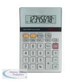 Sharp Semi-Desktop Calculator 8-digit Silver EL-330ERB