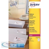 Avery Addressing Labels Laser Jam-free 18 per Sheet 63.5x46.6mm White Ref L7161-40 [720 Labels]