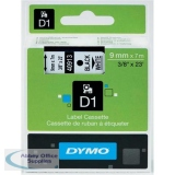 Dymo 1000/5000 Tape 9mm x7 Metres Black/White 40913 S0720680
