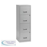 Pierre Henry Filing Cabinet Steel Lockable 4 Drawers A4 Silver Ref 595044