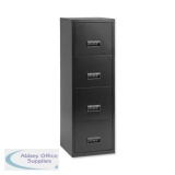 Pierre Henry Filing Cabinet Steel Lockable 4 Drawers A4 Black Ref 095057
