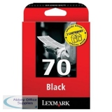 Lexmark No70 Inkjet Cartridge Black 12AX970E