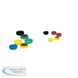 5 Star Office Round Plastic Covered Magnets 25mm Assorted [Pack 10]
