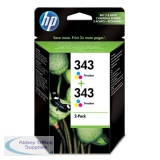 Hewlett Packard No343 Inkjet Cartridge 3-Colour Pack of 2 CB332EE