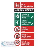 Stewart Superior CO2 Fire Extinguisher Safety Sign W100xH200mm Self-adhesive Vinyl Ref FF093SAV