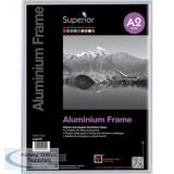 Photo Frame Clip-down Aluminium with Non-glass Perspex Front Back-loading A2 430x27x606mm Silver