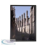 5 Star Facilities Snap Photo Frame with Non-glass Polystyrene Front Back-loading A4 297x210mm Black