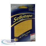 Sellotape Sticky Hook Pads 96 Pads 20x20mm Yellow Ref 504050