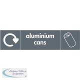 Stewart Superior Recycling Bin Sticker Aluminium Cans 900x50mm Self Adhesive Vinyl Grey Ref BS003