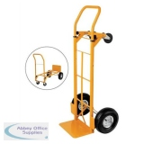 5 Star Facilities Universal Hand Trolley and Platform Truck Capacity 250kg Foot Size W550xL460mm Yellow
