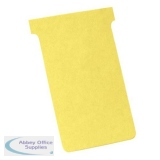 Nobo T-Cards 160gsm Tab Top 15mm W93x Bottom W80x Full H120mm Size 3 Yellow Ref 2003004 [Pack 100]