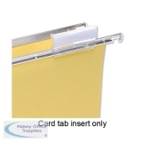 5 Star Office Card Inserts for Clenched Bar Suspension File Tabs White [Pack 50]