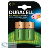 Duracell Battery Rechargeable Accu NiMH 3000mAh Size C Ref 81364720 [Pack 2]
