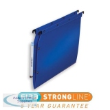 Elba Ultimate Polypro Linking Lateral File Polypropylene 15mm V-base A4 Blue Ref 100330583 [Pack 25]