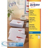 Avery Quick DRY Addressing Labels Inkjet 12 per Sheet 63.5x72mm White Ref J8164-100 [1200 Labels]