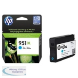 Hewlett Packard No951XL OfficeJet Inkjet Cartridge Cyan CN046AE