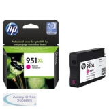 Hewlett Packard No951XL OfficeJet Inkjet Cartridge Magenta CN047AE