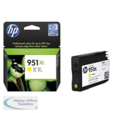 Hewlett Packard No951XL OfficeJet Inkjet Cartridge Yellow CN048AE