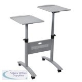 Nobo Multi-Media Trolley Titanium 1900791