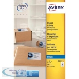 Avery Quick DRY Parcel Labels Inkjet 8 per Sheet 99.1x67.7mm White Ref J8165-25 [200 Labels]