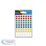 Avery Packet of Labels Diam.8mm Assorted Ref 32-291 [560 Labels]