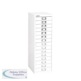 Bisley SoHo 15 Drawer Multidrawer 279x408x860mm Chalk Ref H3915NL-26